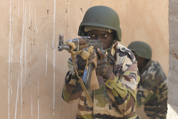 Liberian soldiers fighting in Mali. PA Images